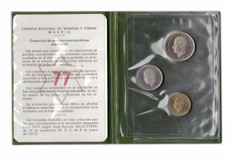 купить Испания набор (3 монеты) 1975 в буклете