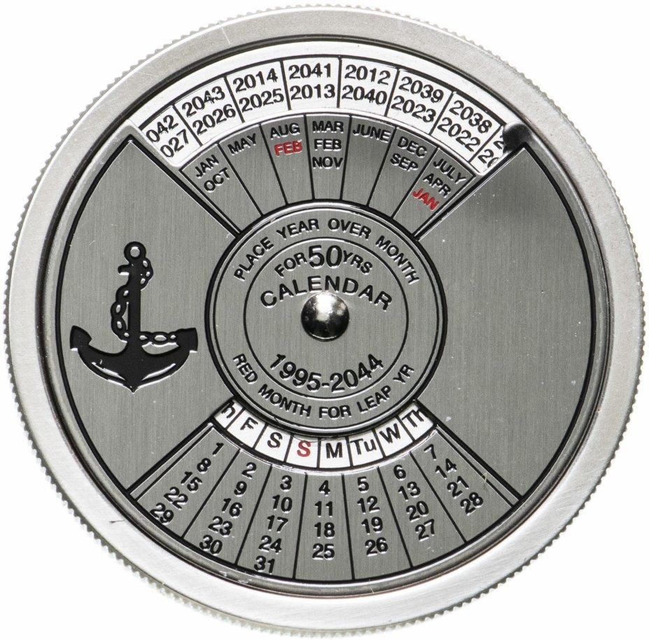 купить Конго 10 франков 2005 «Календарь морской на 50 лет» в футляре с сертификатом