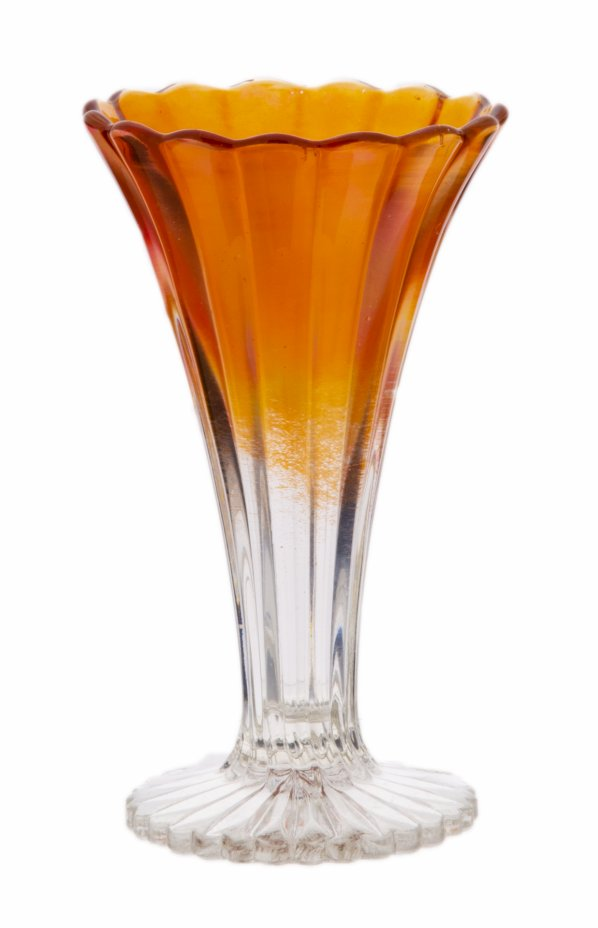 купить Вазочка для цветов из цветного стекла, стекло, люстр, СССР, 1950-1970 гг.