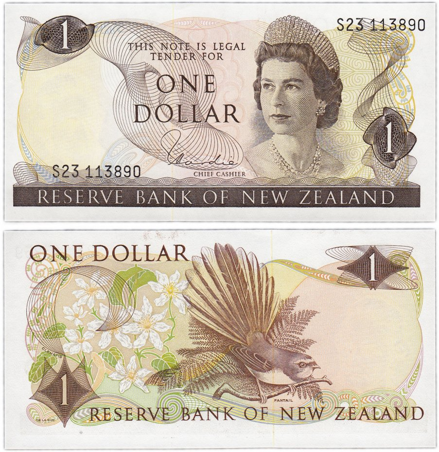 купить Новая Зеландия 1 доллар  1977-81 (Pick 163d)
