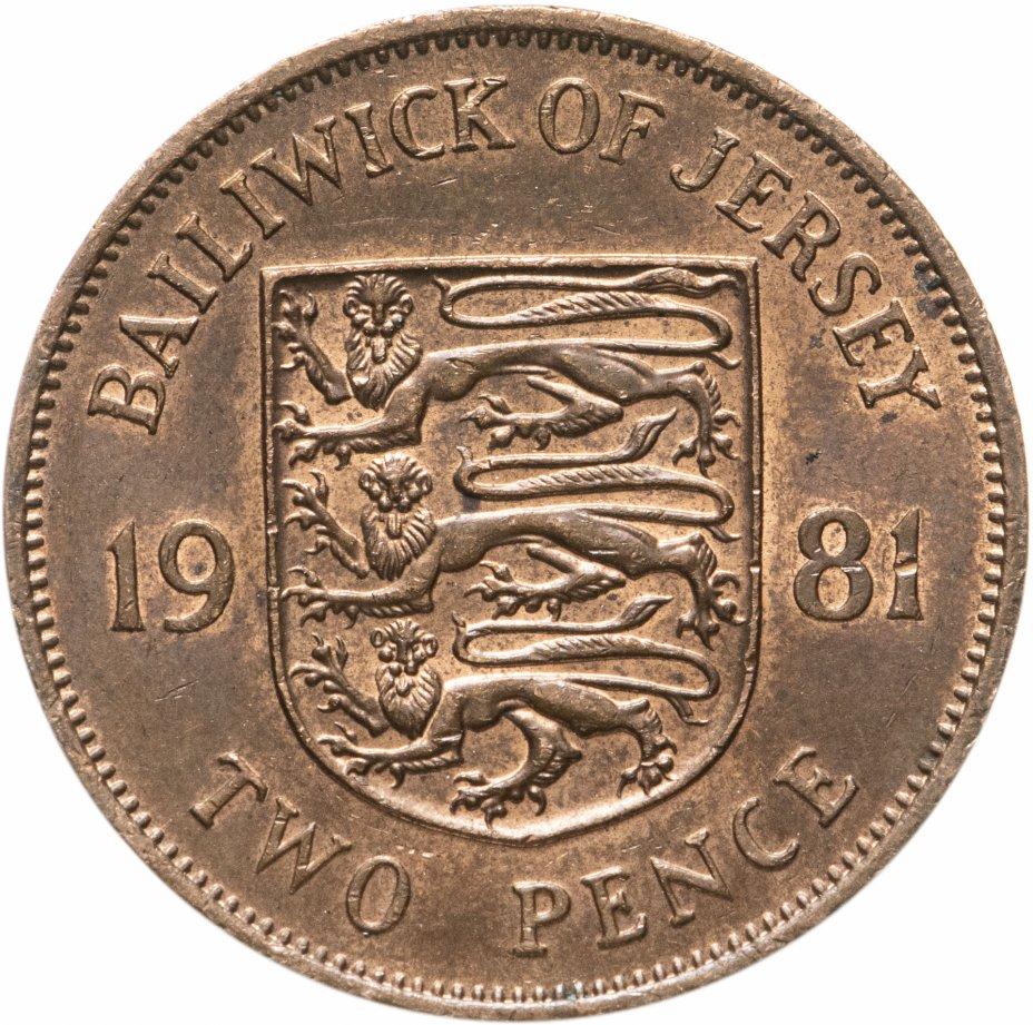 купить Джерси 2 пенса (pence) 1981