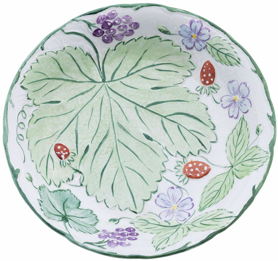 """купить Тарелка глубокая с изображением листьев, ягод и цветов, фаянс, роспись, """"Burleigh Pottery"""", Великобритания, 1960-1990 гг."""