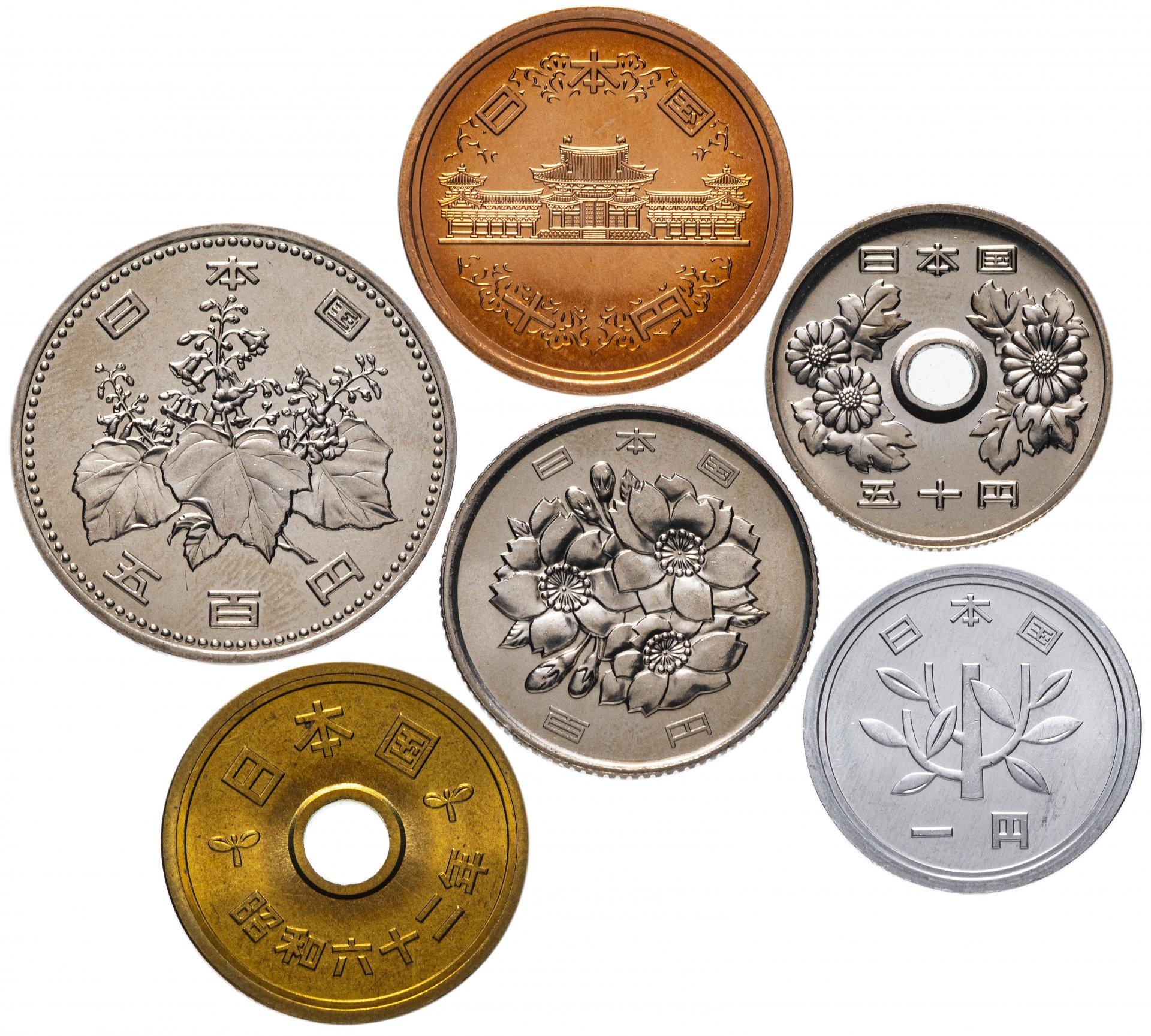 Картинки японские монеты