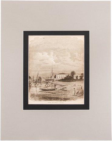 """купить Шарлери И. """"Домик Петра Великого"""" (Peter the Great's cottage), бумага, печать, паспарту, Западная Европа, 1900-1930 гг."""