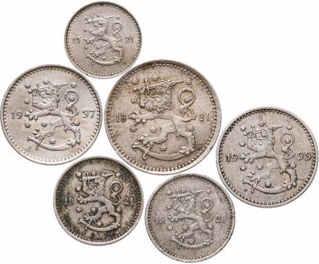 купить Финляндия набор из 6 монет 1921-1937