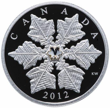 """купить Канада 20 долларов 2012 """"Снежинка"""", в коробке с сертификатом"""
