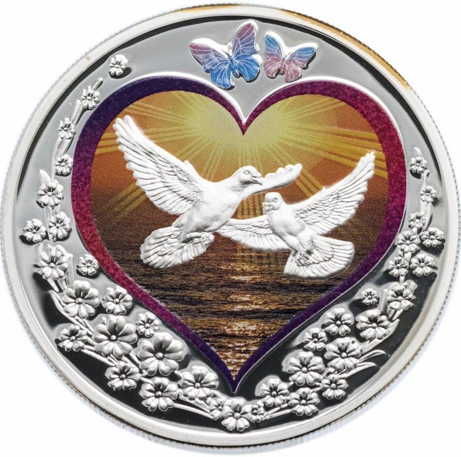 """купить Остров Ниуэ 1 доллар 2010 """"Голуби в сердце"""""""
