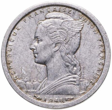 купить Французская Экваториальная Африка 1 франк 1948