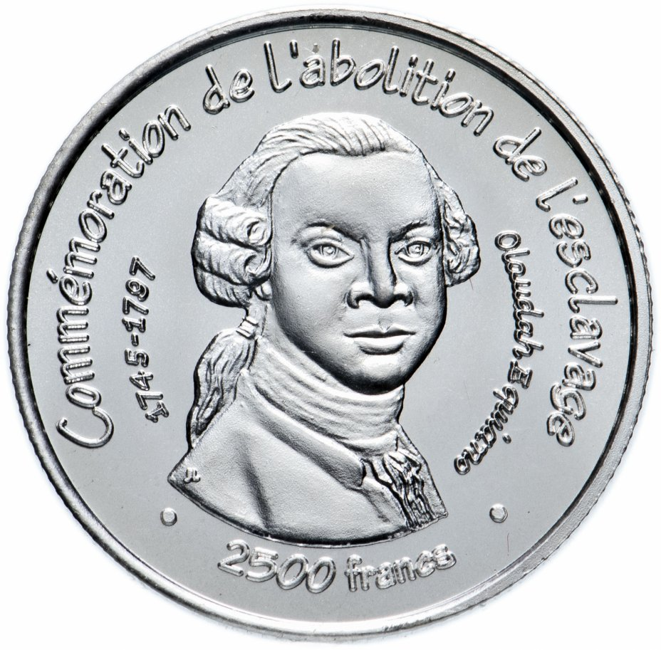 купить Бенин 2500 франков (francs) 2007 Фредерик Дуглас Мали
