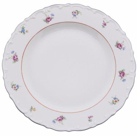 """купить Набор тарелок на четыре персоны с нежным цветочным декором, фарфор, деколь, мануфактура """"Kahla"""", Германия, 1937-1957 гг."""
