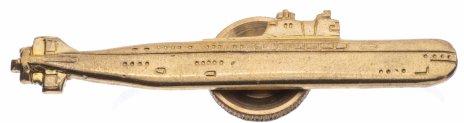 """купить Знак """"Подводная лодка"""" золотистый"""