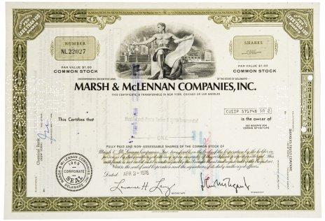 купить Акция США MARSH & McLENNAN COMPANIES, INC., 1976 г.