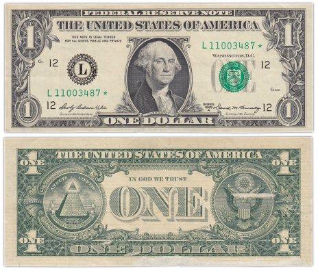 купить США 1 доллар 1969А (Pick 449b) L-Сан Франциско *-серия замещения