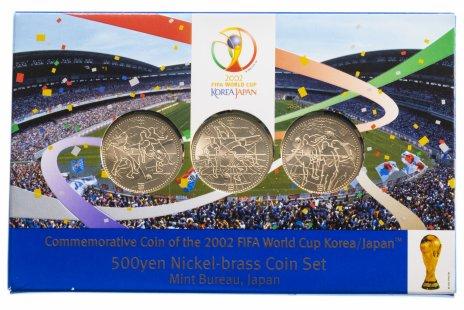 """купить Япония набор монет 2002 """"Кубок Мира по футболу, Корея/Япония"""" в буклете"""