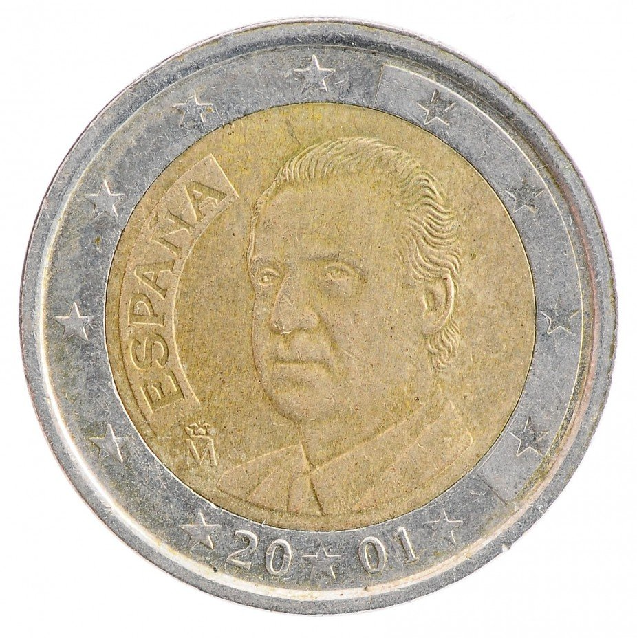 купить Испания  2 евро 2001