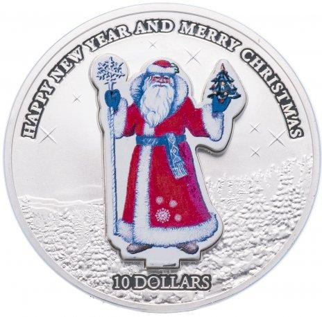 """купить Науру 10 долларов 2008 """"Новый год - Дед Мороз"""", в футляре, с сертификатом"""