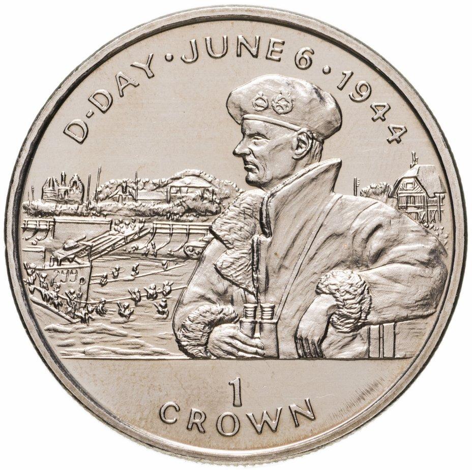 """купить Остров Мэн 1 крона (crown) 1994 """"50 лет высадке в Нормандии 6 июня. Бернард Монтгомери"""""""