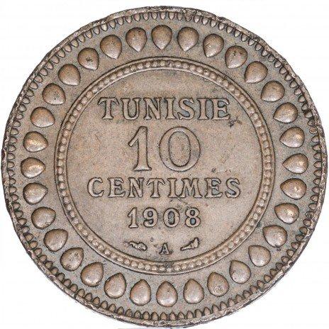купить Тунис 10 сантимов 1908