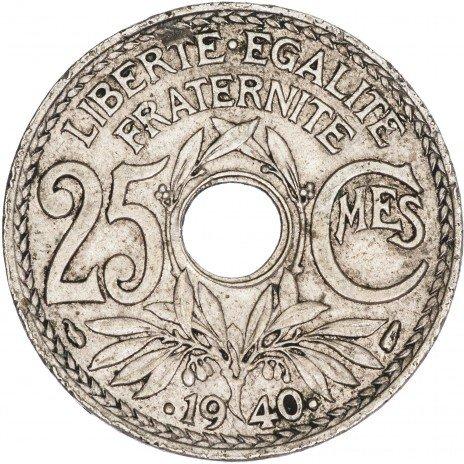купить Франция 25 сантимов 1940