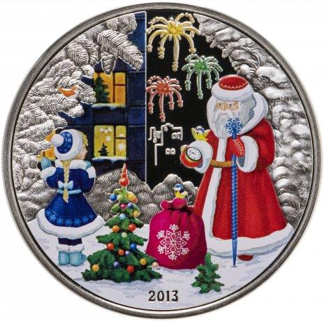 """купить Острова Кука 5 долларов 2013 """"С Новым Годом!"""" в футляре, с сертификатом"""