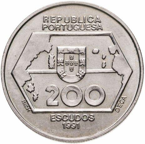 """купить Португалия 200 эскудо (escudos) 1991   """"Навигация на запад"""""""