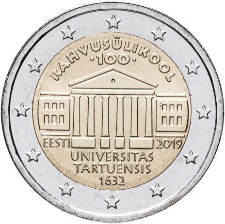 """купить Эстония 2 евро 2019 """"100 лет первому эстоноязычному университету"""""""