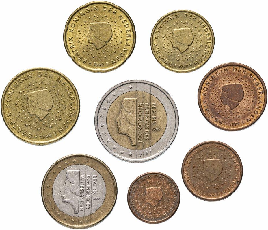 купить Нидерланды полный годовой набор евро для обращения 1999 (8 штук, VF-XF)