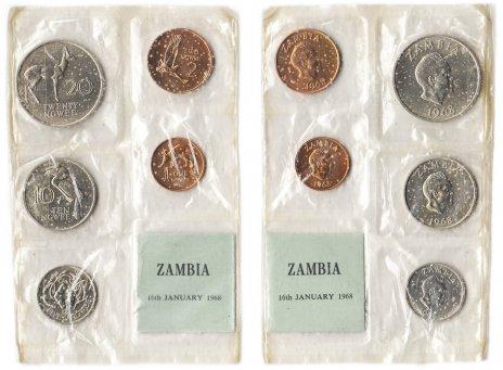 купить Замбия набор монет 1968 (5 штук)