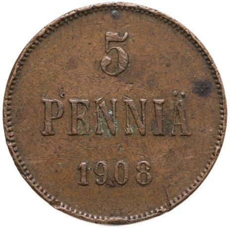 купить 5 пенни (pennia) 1908
