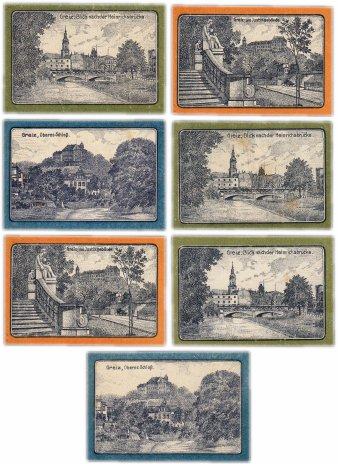 купить Германия (Тюрингия: Грайц) набор из 7 нотгельдов 1921