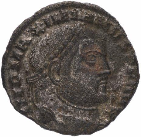 купить Римская Империя Максимиан Геркулий 285–305 гг фоллис (реверс: Гений стоит, в руках - патера и рог изобилия)