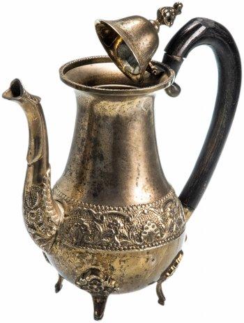 купить Кофейник на ножках, латунь с серебрением, Германия, 1910-1940 гг.