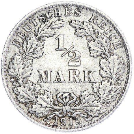 купить Германия 1/2 марки 1915