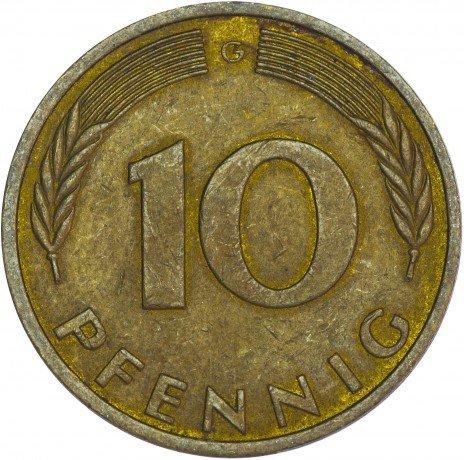 купить Германия 10 пфеннигов 1991