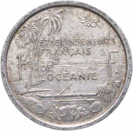 купить Французская Океания 1 франк (franc) 1949