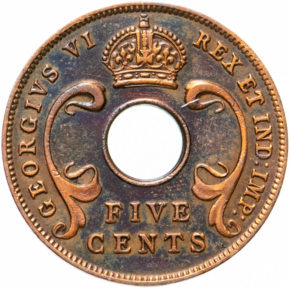 купить Британская Восточная Африка 5 центов (cents) 1942
