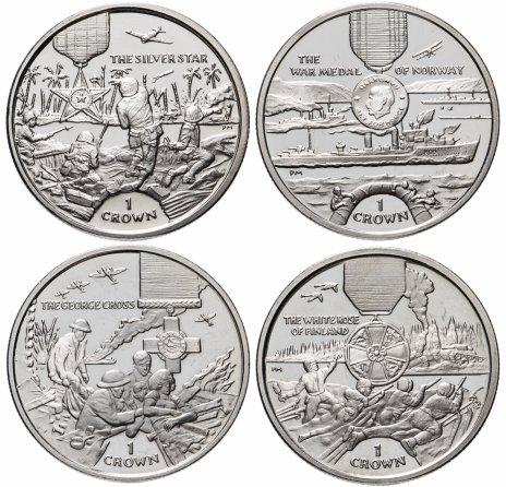 """купить Остров Мэн набор из 4-х монет 1 крона 2004 """"Награды мира"""""""