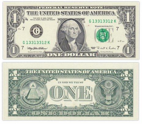 "купить США 1 доллар 1995 (Pick 496a) G-Чикаго ""FW"" (Fort Worth)"