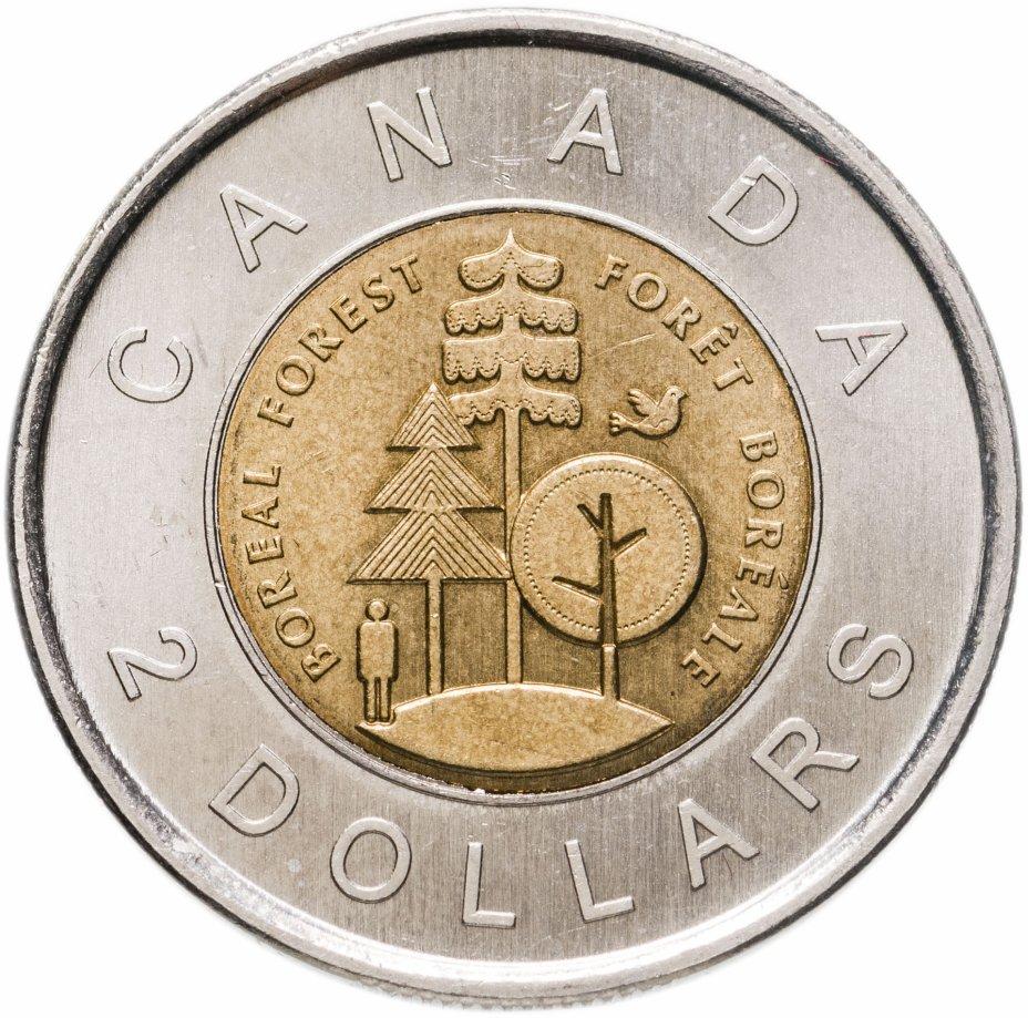 купить Канада 2 доллара (dollars) 2011   Тайга - половина суши Канады