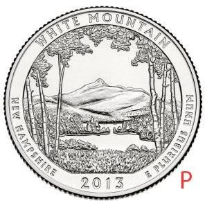 купить США 25 центов (квотер) 2013 P — Национальный лес Белые горы