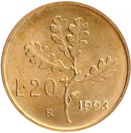 купить 20 лир 1993 Италия