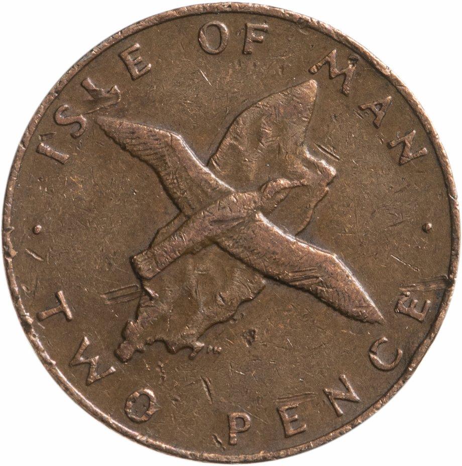 купить Остров Мэн 2 пенса (pence) 1976-1979, случайная дата