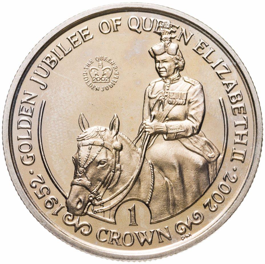 """купить Остров Мэн 1 крона (crown) 2002 """"50 лет правления Королевы Елизаветы II"""""""