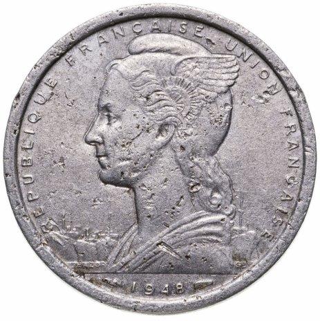 купить Французская Экваториальная Африка 2 франка (francs) 1948
