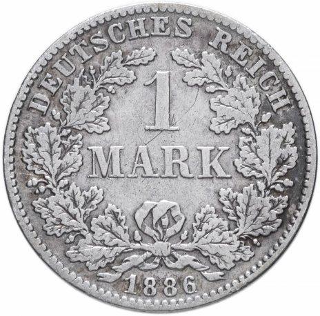 """купить Германия (Германская Империя) 1 марка 1886 """"D"""""""
