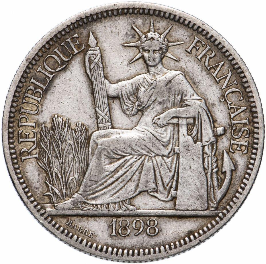 купить Французский Индокитай 1 пиастр (piastre) 1898