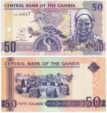 купить Гамбия 50 даласис 2006 (Pick 28)