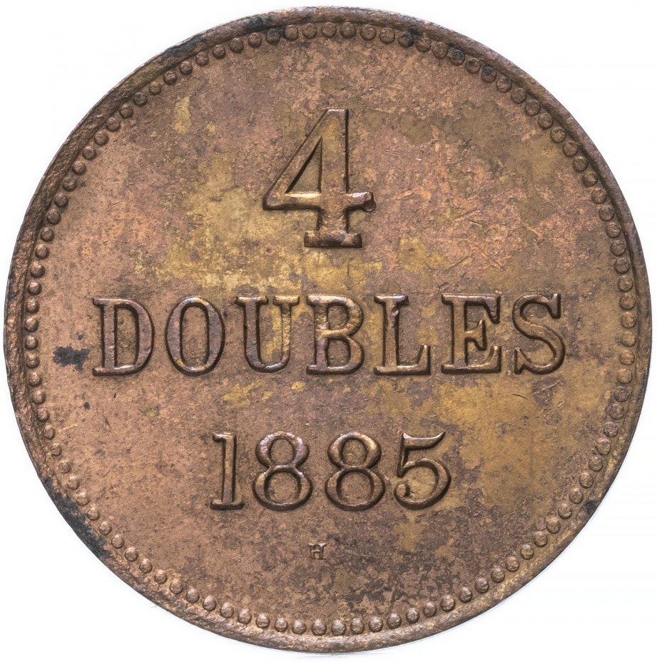 купить Гернси 4 дубля (doubles) 1885