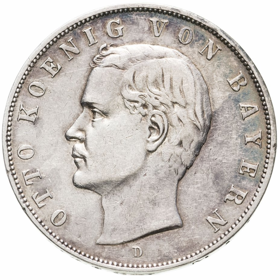 купить Германская Империя, Бавария 3 марки (mark) 1909 D