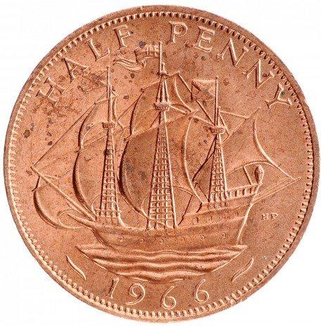 купить Полпенни 1966 Великобритания